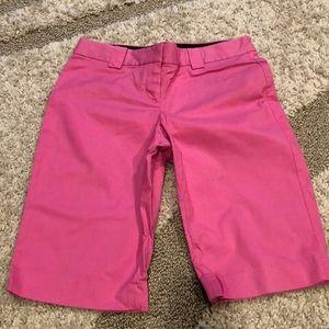Express Pink Bermuda shorts